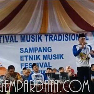 festifal musik tradisional 2019 dibuka langsung bupati sampang