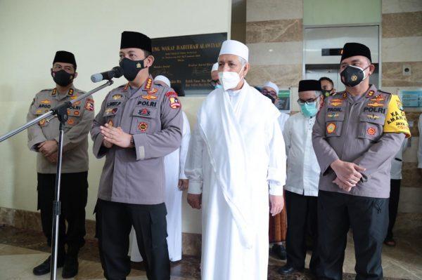 Habib Zen Umar Bin Smith Terima Kunjungan Kapolri di Kantor Rabithah Alawiyah