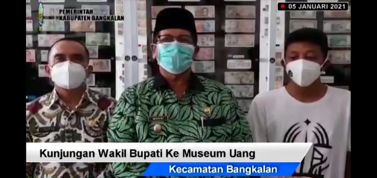 foto: kunjungan bupati bangkalan ke museum uang